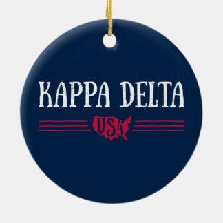 Kappa-Dreieck USA Keramik Ornament