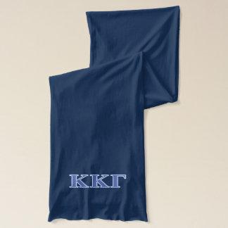 Kappa-Kappa-Gamma-Königsblau-Buchstaben Schal