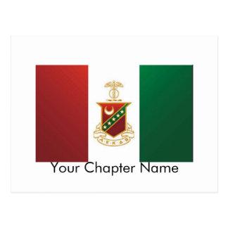 Kappa-Sigma-Flagge Postkarte