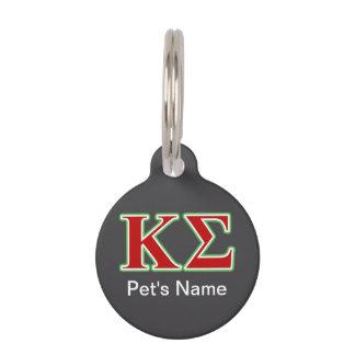 Kappa-Sigma-rote und grüne Buchstaben Tiermarke