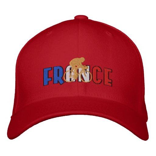KAPPE Frankreichs radfahrengoldsieger-Fahrradkappe Besticktes Baseballcap