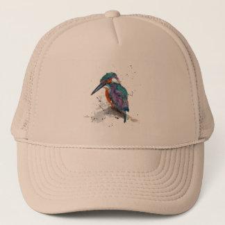 Kappe mit handgemaltem Eisvogel