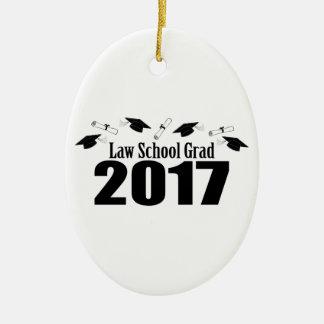 Kappen des juristische Fakultäts-Absolvent-2017 Ovales Keramik Ornament