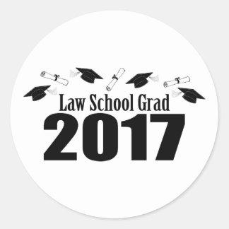 Kappen des juristische Fakultäts-Absolvent-2017 Runder Aufkleber