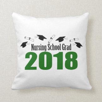 Kappen des Krankenpflege-Schulabsolvent-2018 und Kissen