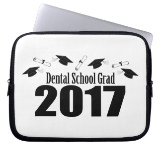 Kappen des zahnmedizinische Schulabsolvent-2017 Laptop Sleeve