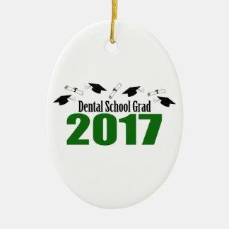 Kappen des zahnmedizinische Schulabsolvent-2017 Ovales Keramik Ornament
