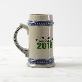 Kappen des zahnmedizinische Schulabsolvent-2018 Bierglas