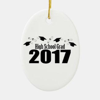 Kappen Highschool Absolvent-2017 und Diplome Ovales Keramik Ornament