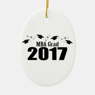 Kappen MBA-Absolvent-2017 und Diplome (Schwarzes) Ovales Keramik Ornament