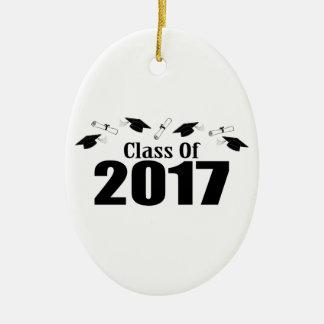 Kappen-und Diplom-Klasse von 2017 (Schwarzes) Ovales Keramik Ornament