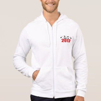 Kappen und Diplome MBA-Absolvent-2017 (rot) Hoodie