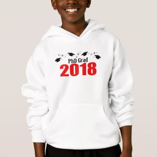 Kappen und Diplome PhD-Absolvent-2018 (rot) Hoodie