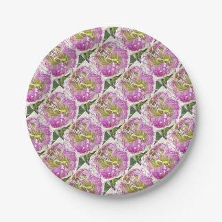 Kapriolen-Blumen-Blüte Pappteller