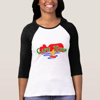 Kapstadt-Damen 3/4 Hülseraglan-Gewohnheits-T - T-Shirt