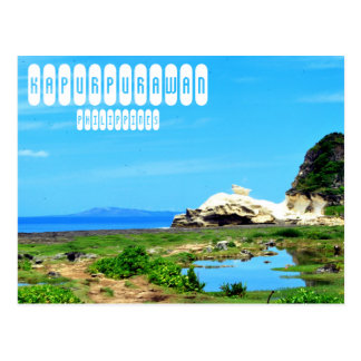 Kapurpurawan Felsformation Postkarte
