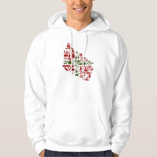 "Kapuzen Sweatshirt ""Bornholm Logo"" weiß"