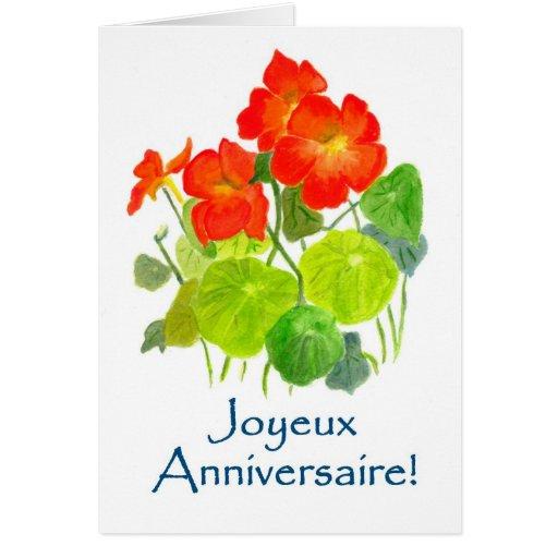 Kapuzinerkäse-Geburtstags-Karte - französischer Gr