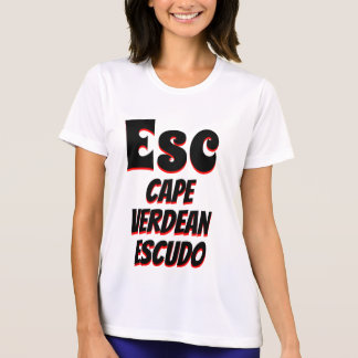 Kapverdisches Escudoweiß ESC T-Shirt