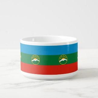 Karachay-Cherkessia Flagge Schüssel