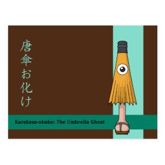 Karakasa-obake (Regenschirm-Geist) Postkarte