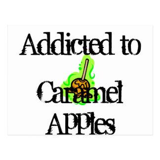 Karamell-Äpfel Postkarte