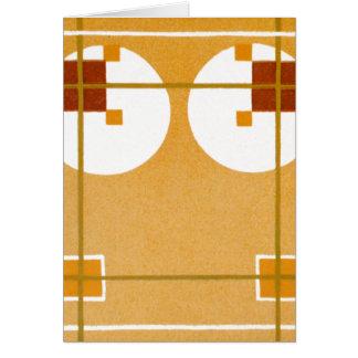 Karamell-Kunst-Deko Karte