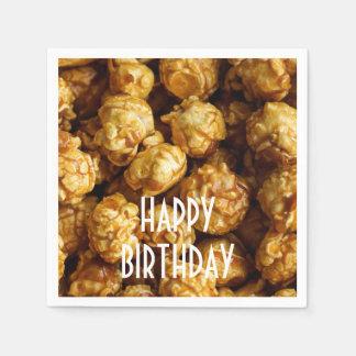Karamell-Popcorn-alles- Gute zum Papierservietten