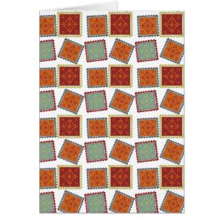 Karamell-Quadrate gekippt Karte