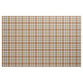 Karamell-quadriert dunkler Brown gelber Tartan Stoff