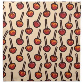 Karamellisierte Äpfel Serviette