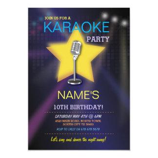 Karaoke-Geburtstags-Party-Tanz-Stern laden ein Karte