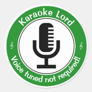 Karaoke-Meister Runder Aufkleber