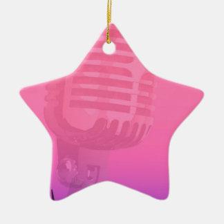 Karaoke-Nachtpublikums-Plakat Keramik Ornament