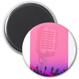 Karaoke-Nachtpublikums-Plakat Runder Magnet 5,1 Cm