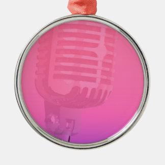 Karaoke-Nachtpublikums-Plakat Silbernes Ornament