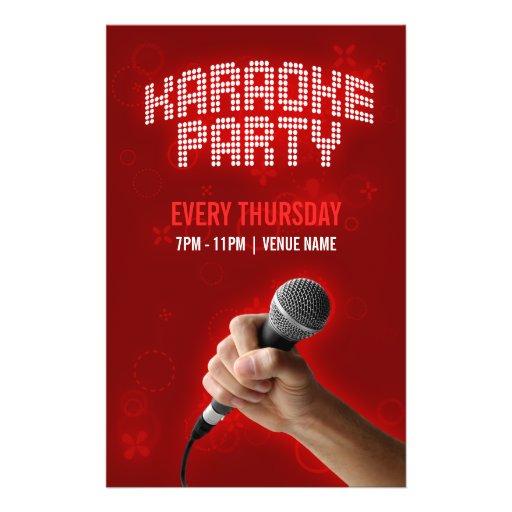 Karaoke-Party-Flyer