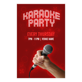 Karaoke-Party-Flyer 14 X 21,6 Cm Flyer