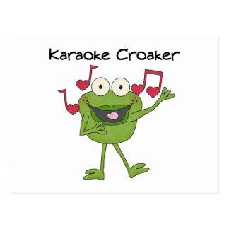 Karaoke-Quakfisch Postkarte