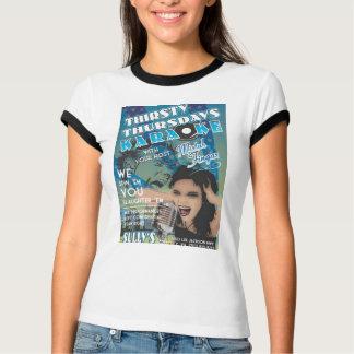 """Karaoke-T-Shirt """"durstigen Donnerstags"""" T-Shirt"""