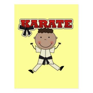KARATE - Afroamerikaner-Jungen-T-Shirts und Postkarte