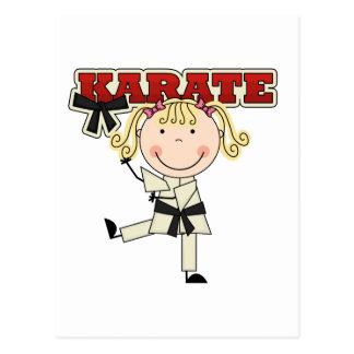 KARATE - blonde Mädchen-T - Shirts und Geschenke Postkarte