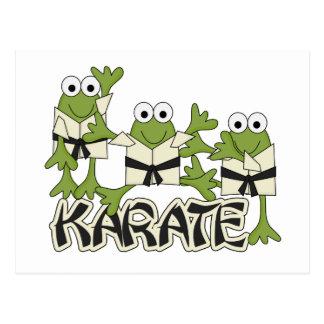 Karate-Frosch-T-Shirts und Geschenke Postkarte