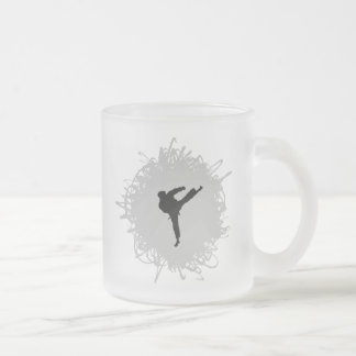 Karate-Gekritzel-Art Mattglastasse