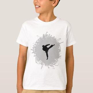 Karate-Gekritzel-Art T-Shirt