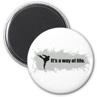 Karate ist eine Lebensart Runder Magnet 5,1 Cm