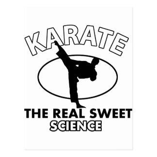 Karate-Kampfkunst-Entwürfe Postkarte
