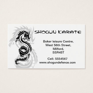 Karate-Lehrer-Visitenkarte Visitenkarte