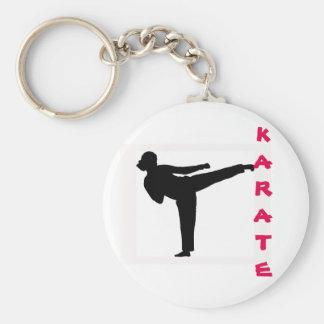 Karate-Mädchen-Schlüsselkette Schlüsselanhänger
