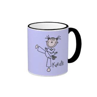 Karate-Mädchen-T-Shirts und Geschenke Tee Tasse